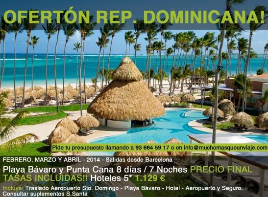 Viaje organizado a República Dominicana