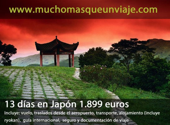 viaje organizado a Japón